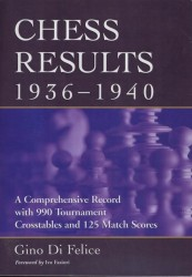 Chess results 1936 - 1940