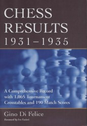 Chess results 1931 - 1935